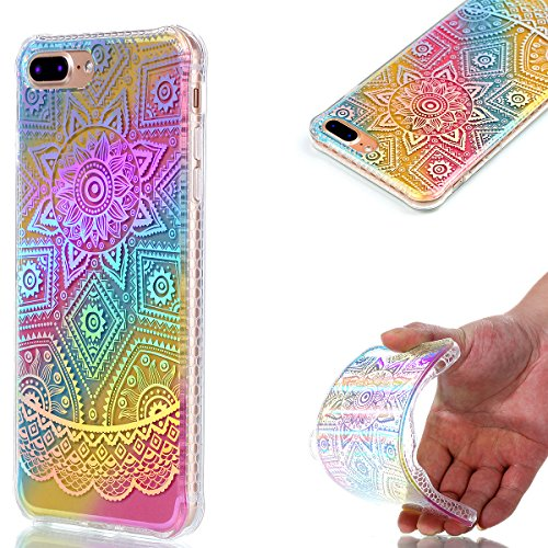 Apple iPhone 7 Plus 5.5 Hülle, Voguecase Schutzhülle / Case / Cover / Hülle / Plating TPU Gel Skin (Sonnenblume 01) + Gratis Universal Eingabestift Datura