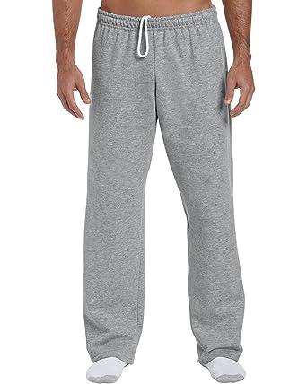 Gildan Jogginghose mit offenem Beinabschluss Sport Grey