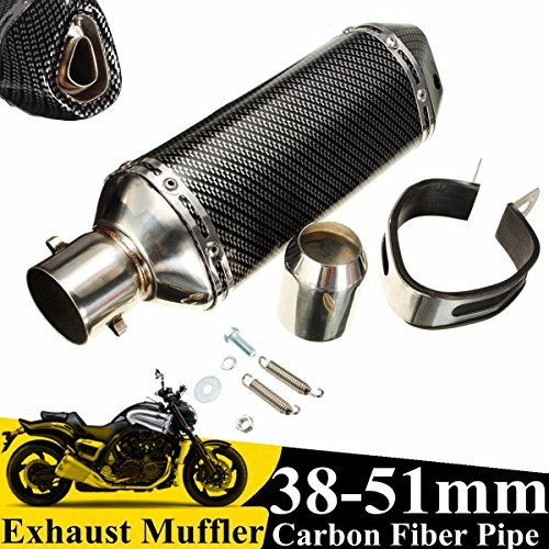 Universal Slip on Carbon Motorrad Auspuff Schalldämpfer Endrohr DB Killer 38-51mm