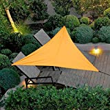 Uni-Wert Tenda da Sole Triangolare 3 x 3 x 3 m PES Poliestere Arancione Protezione UV Impermeabile Parasole per Tende da Sole Giardino Balcone Patio Esterno