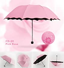 women's Princess Magic Flowers Dome Parasol Sun/Rain Folding Umbrella