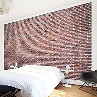 APALIS Non-Woven Wallpaper Stone Wallpaper Amsterdam Photo Wallpaper Wide, Red, 106108680851Photo Wallpaper Wall Mural (1374994