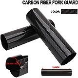 FastPro Protection de fourche universelle en fibre de carbone pour moto