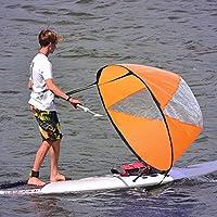 YEARGER Kajak Segel Paddel Faltbare Wind Ruderboote Segel Zubehör, Einfach und Mühelos für Kajaks, Kanus, Inflatables, Boote,