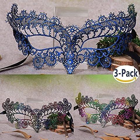 Sexy Laser Maske Maskerade Halloween Kostüme Venezianischen Partei Maske DIY Handgemacht 3PCS (Vampir Kostüm Diy)