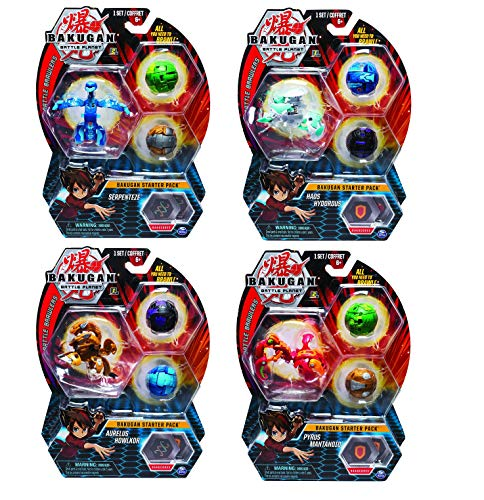 BAKUGAN Starter Pack 3-Pack, Pyrus Turtonium, Collectible Transforming Creatures, for Ages 6 and Up