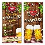 Einladungskarten Oktoberfest Geburtstag (30 Stück) Bayern Einladungen - O'zapft is! in Rot