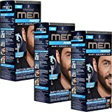 3x Schwarzkopf MEN PERFECT Bart-Coloration, 80 Natur Schwarz-Braun