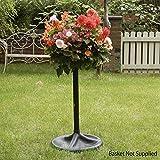 The Easy Fill Hanging Basket Pedestal Planter