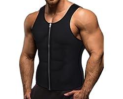Memoryee Men Sauna Sweat Zipper Vest per Perdere Peso Hot Corsetto in Neoprene Vita Trainer Body Top Shapewear Slimming Shirt