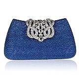 KAXIDY Donna Pochette Borsa Sacchetto Borsetta Da Sera Borsa Diamante Portafoglio Frizioni (Blu)