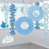 Amscan–9901897Comunión Iglesia azul Kit de decoración