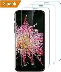 [3 Stück] iPhone XS Max Panzerglas Schutzfolie, 9H Härte, 5-Mal verbesserte Panzerglasfolie Hartglas Anti-Kratzer, Blasen und HD Displayschutzfolie Gehärtetem Glas für iPhone XS Max