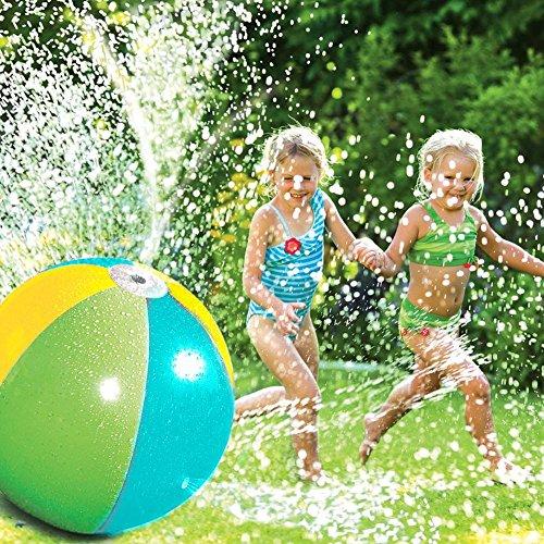 Splash und Spray Ball, Sommer Kinder Outdoor Wasserspiel Wasser Jet Ball Beach Ball Rasen Spiel 75cm