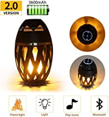 SHOPEE BRANDED Led Flame Speaker, HD Led Flame Atmosphere Speaker Torch Atmosphere Bluetooth 4.2 Speaker&Portable Outdoor Speaker with Enhanced Bass, LED Flickers Warm Night Lights for iPhone/iPad/Android Compatible with tripod