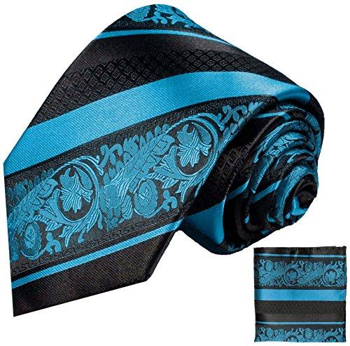 Cravate homme bleu rayé noir ensemble de cravate 2 Pièces ( longueur 165cm )