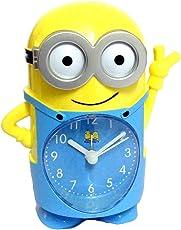 Shubh Impex Kids Table/Desk / Shelf Cartoon Alarm Clock (Minion)