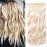 Hair Extension Clip [1 Pièce 5 Clips] On Dirait de Vrai Cheveux [60CM][Blond Clair]