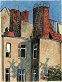 "Original Pastellzeichnung ""Die Dächer Berlins 1"" von Ave Igor, Pastell auf Papier, Signiert, Handgemaltes 