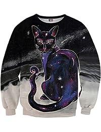 Mr. Gugu & Miss Go ® ⋅ Galactic Cat Suéter ⋅ 3D ⋅ Unisex ⋅ Fullprint ⋅ Impreso ⋅ Multicolor ⋅ Primavera ⋅ Verano ⋅ 2017 ⋅