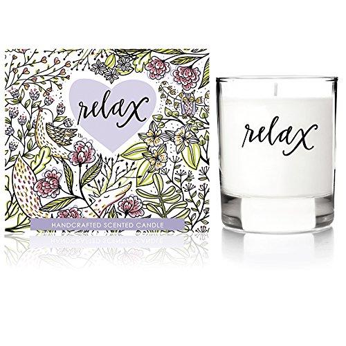 We Love Home - Candela profumata 100% vegetale con profumo di gardenia e lavanda modello Relax