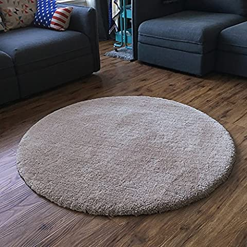 SESO UK- Simple Modern chair Carpet Non-slip Round Rug For Bedroom Living Room ( Color : Beige , Size : 250cm )