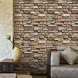 Bellelove,Stickers muraux 45 * 100 cm, 3D étanche mur de papier brique rustique pierre effet autocollant mur amovible décor à la maison, auto-adhésif Wall Sticker (A)