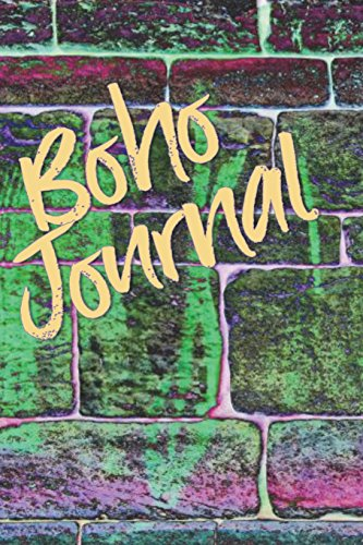 Boho Journal: 140 Lined Pages Softcover Notes Diary, Creative Writing, Class Notes, Composition Notebook -  Green Wall Graffiti -