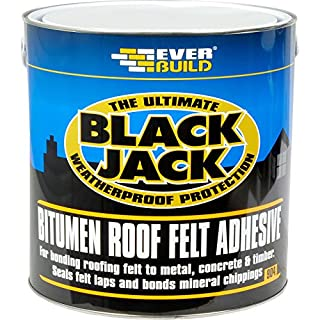 904 Roof Felt Adhesive - Cold applied adhesive to bond roofing felt to most surfaces - 1L - Black