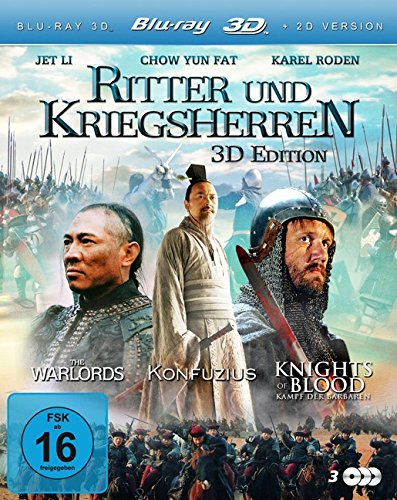 Ritter und Kriegsherren (Konfuzius 3D / Knights of Blood 3D / The Warlords 3D) (3 Blu-rays) [3D Blu-ray] [Collector's Edition]