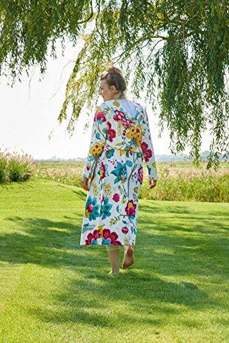 Pip Accappatoio Floral Fantasy, XS - XXL, Kaki, Cotone, bianco, Large