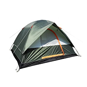 ZCu0026J Outdoor green c&ing mountaineering tents multi-purpose 3-4 Person tents solid and durable windproof waterproof anti-mosquito high quality ...  sc 1 st  Amazon UK & ZCu0026J Outdoor green camping mountaineering tents multi-purpose 3 ...