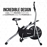 Reach Air Bike Exercise Home Gym Cycle   Best Cardio Fitness Machine for Weight Loss.