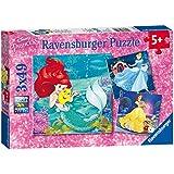 Ravensburger - 09350 - Puzzle Aventure des princesses - 3 x 49 pièces