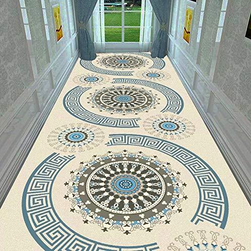 GuoWei Tapis Longue pour Couloir Porte D'entrée Salle Poil Ras Antidérapant Découpable Moderne Personnalisable Plusieurs Tailles (Couleur : A, taille : 0.6x4m)