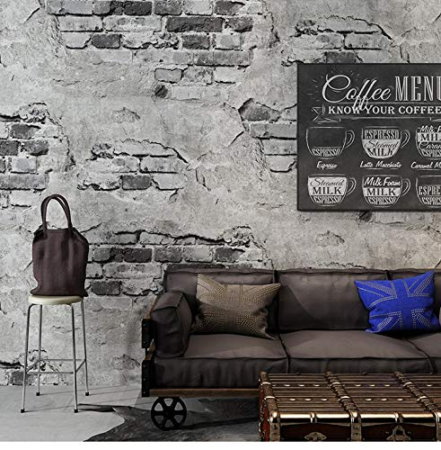 HHKX100822 Tapete 3D Murals Poster Decals Wallcovering Retro Industrial Loft Wall Paper Washable Rustic Vintage Faux Brick Roll Vinyl PVC 5.3/. B