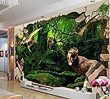 Malilove 3D Raum Tapete Custom Wall Sticker 3D Alten Dinosaurier Broken Wall Painting Fototapete Für Wände 3D300X210CM