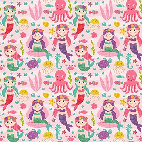 GzHQ 10 x 10 ft unter dem Meer Meerjungfrau Hintergrund rosa Unterwasser Meerjungfrau Schildkröte Fische Muster Foto Hintergrund Kinder Kinder Geburtstag Party Baby Dusche Foto Requisiten