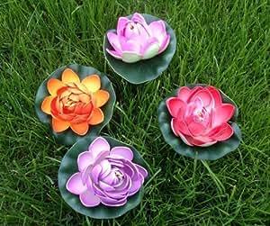 Ninfea Galleggiante Fiori di loto Fiore di loto ninfea 12 cm grande fiori artificiali molto originale come vero Decorazione Nuphar lutea