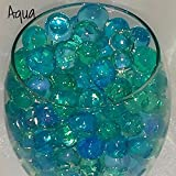 "JO's NEW Designer AQUA COLOR CRYSTAL SOIL MAGIC WATER BEADS 5000 Pieces (5000 Pieces DESIGNER AQUA COLOR BEADS (DRY BEADS SIZE 3 – 3.5mm - GROWS UPTO 15 - 20mm) & ""1000 Pieces MIXED COLOR CRYSTAL SOIL MAGIC WATER BEADS (DRY BEADS SIZE 2mm - GROWS UPTO 10 - 11mm)"" Water Growing Jelly Balls, Vase Filler for Wedding, Home Flower Decoration, Party Decoration Kids Toy Planting Crystal Soil Mud etc… A Great Toy, Decorations, Watering Plants, Sensory Play etc,… (LIMITED TIME OFFER)"