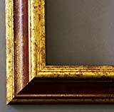 Online Galerie Bingold Holz - Bilderrahmen Bari Rot Gold 4,2-20x30 - WRF mit Normalglas - 100 Größen