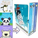 Fiona Watt's Book Collection Set (That's Not My Penguin, That's Not My Bear (hardcover), That's Not My Panda) 3 Books Bundle Gift Wrapped Slipcase Specially For You