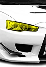 Tufkote Transparent Colored Headlight/Tail Light Tint Film, Self Adhesive (12 x 24 inches, NEON Yellow)