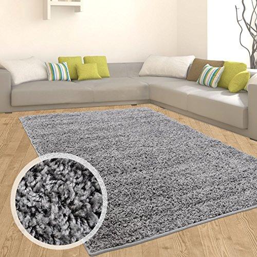 Myshop24h - tappeto a pelo lungo flokati, morbido in 9 colori, tappeto moderno per salotto, grigio scuro, 190 cm_x_280 cm