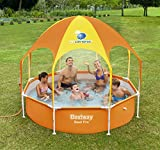 Bestway Frame Pool Splash-in-Shade mit Sonnendach + Sprinkler, 244 x 51cm -