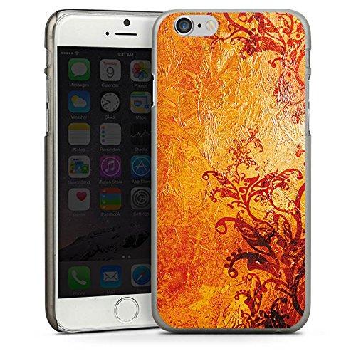 Apple iPhone 5 Housse étui coque protection Ornements Fleurs Fleurs CasDur anthracite clair