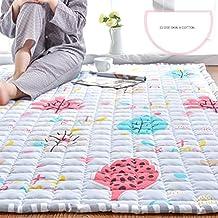 DW&HX Alfombras modernas alfombras decorativas algodón rectángulo alfombras para sala dormitorio nórdico simple mesa colchón tatami niños orugas pad antideslizante plegable lavable-A 110x150cm(43x59inch)