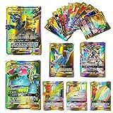 Dorara 100 Pcs Pokemon GX Flash Karten Style TCG Holo Puzzle Kartenspiel Spaß, Pokemon Karten Unbroken Bonds Tag Team Packs, Sammelkartenspiel 2019 NEU