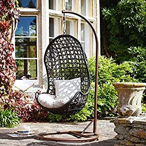 all weather outdoor rattan garden furniture hanging pod. Black Bedroom Furniture Sets. Home Design Ideas