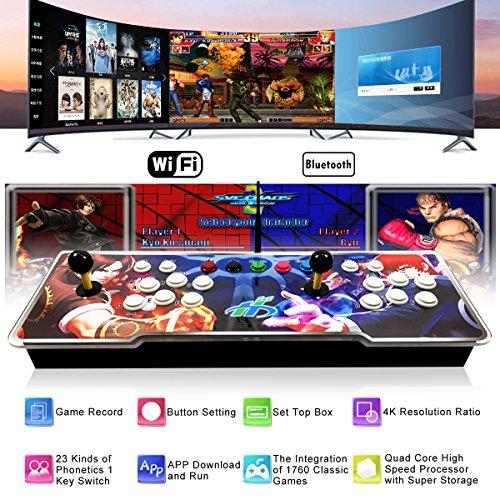 E1 1760 in 1 Arcade-Spielkonsole TV-Box mit 1 GB RAM 16 GB ROM Android 5.1 Bluetooth 2.4G WIFI für Dual-Player